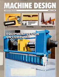 Cover of Machine Design magazine containing Alex Shaland's magazine article.