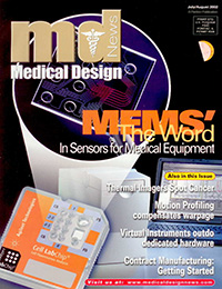 Cover of Medical Design magazine containing Alex Shaland's magazine article.